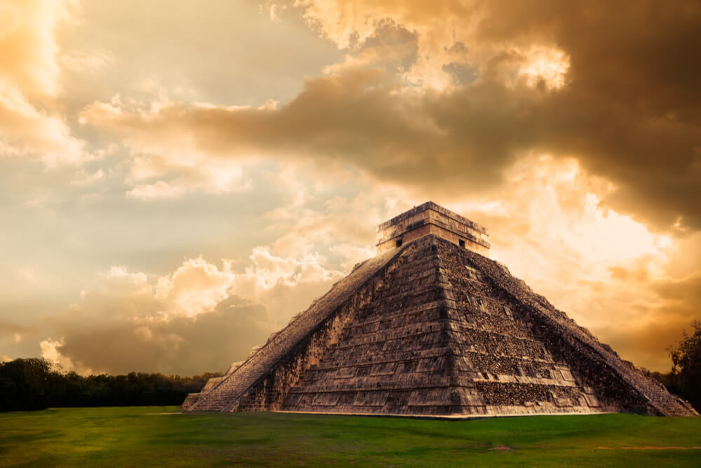 the Temple of Kukulkan represents an impressive step-pyramid dedicated to the feathered serpent