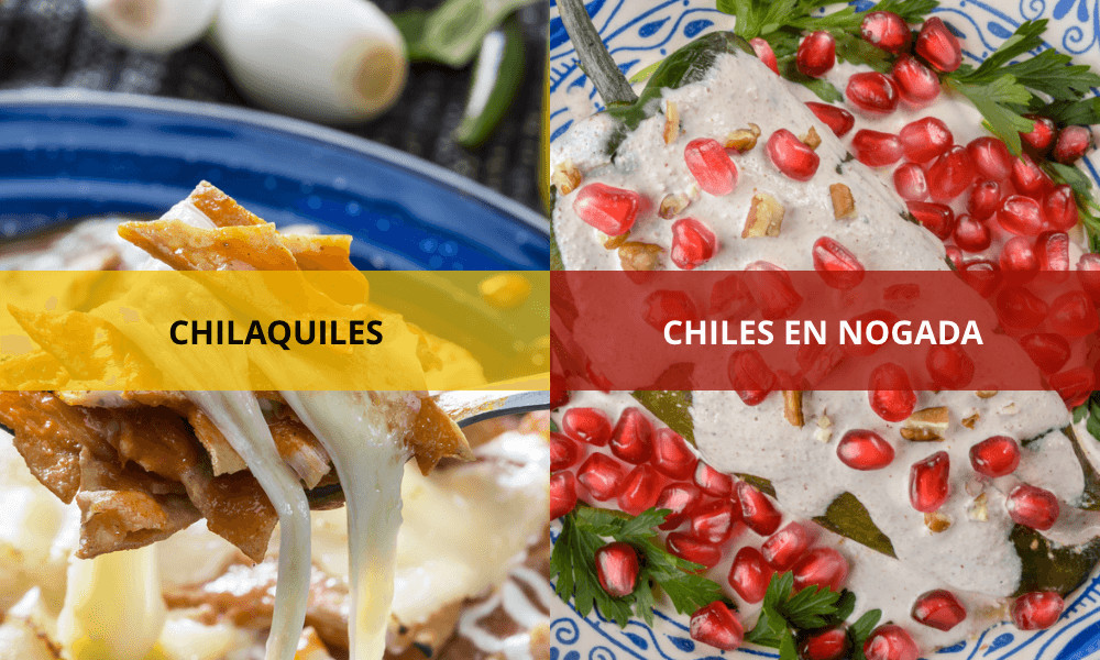 When in Mexico, try chilaquiles and chiles en nogada