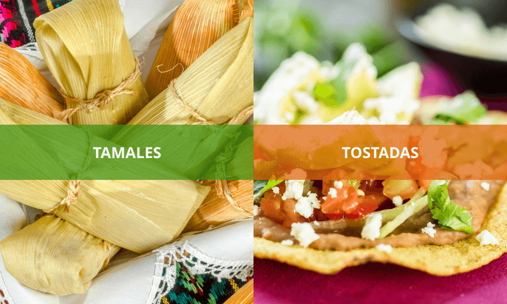 When in Mexico, try tamales and tostadas