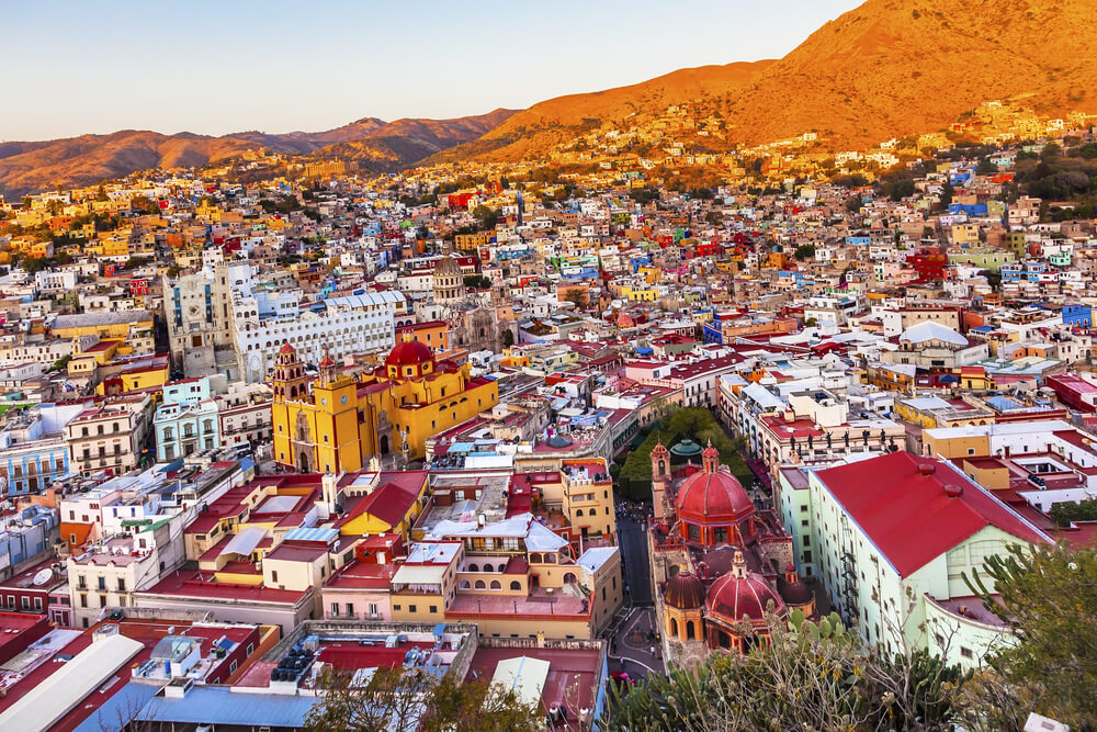 Guanajuato looks like a town made of gingerbread houses