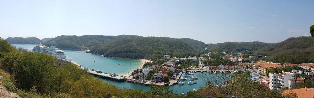 Huatulco is a resort converted from a fishing village