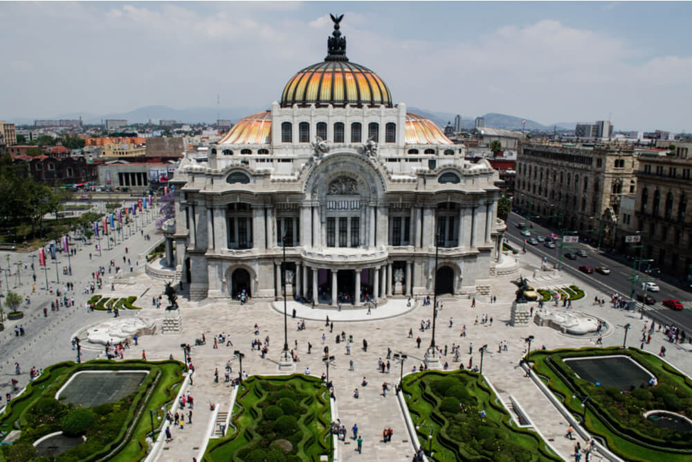 Museum of Modern Art in Mexico City is one of the main tourist sights, both inside and out