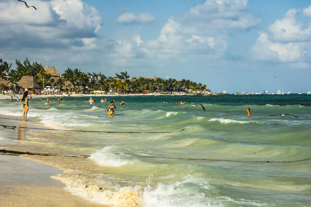 Playa del Carmen has a beautiful coastline and crystal clear water