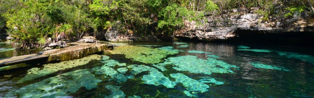 Azul sinkhole near Playa del Carmen, Mexico
