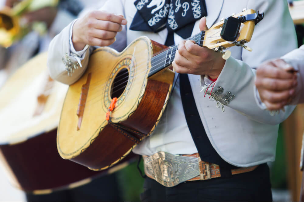 Vihuela is a round-backed Mexican guitar