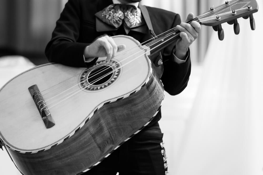 Guitarron is a very large guitarv typical for Mexican musicians