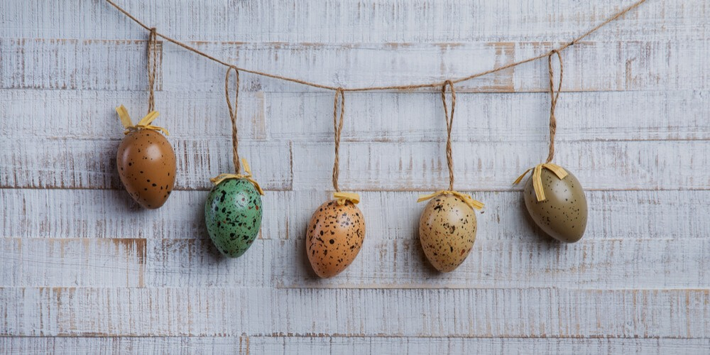 Eggs on a thread