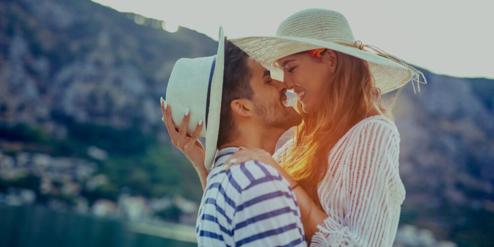 Romantic couple in summer