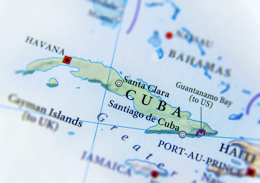 The contours of the island of Cuba resemble an alligator, hence the country's nickname - el Cocodrilo or el Caiman
