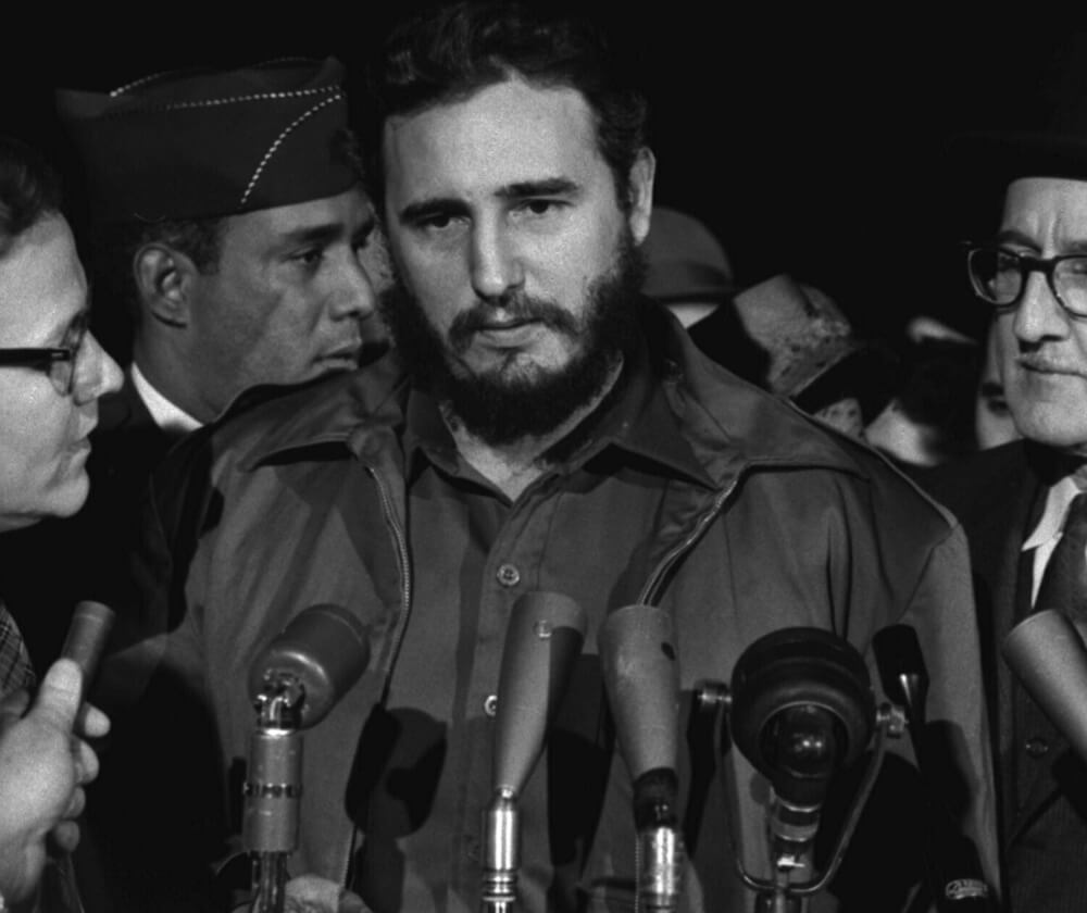 Castro during a visit to the United States in 1959