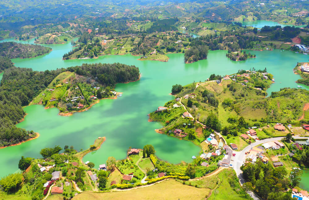 The lovely lakes of Guatapé, Colombia