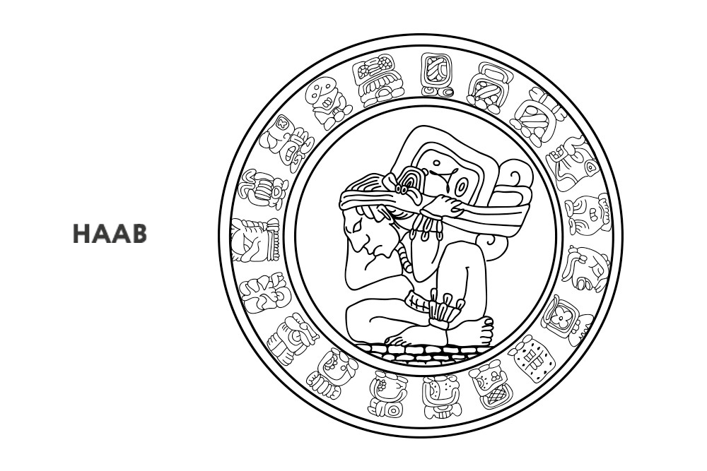 Haab is the solar Mayan calendar consisting of 360 named and 5 unnamed days
