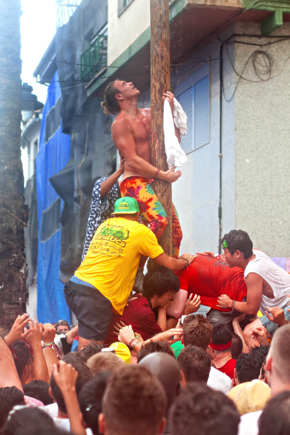 Palo Jabón at Tomatina festival in Buñol, August 28, 2013 in Spain