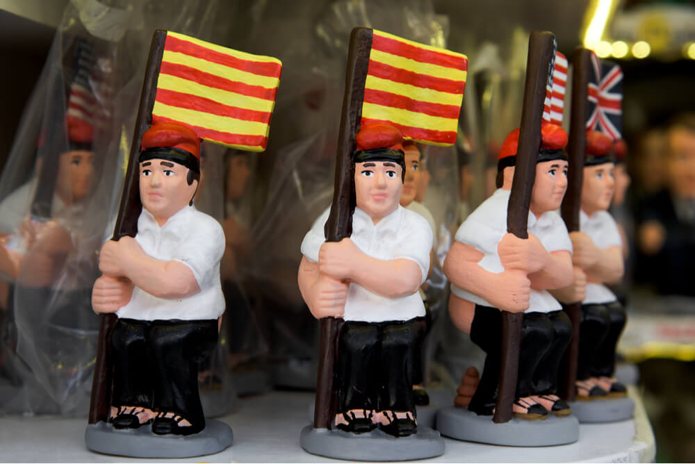 El Caganer is a typical Catalan character in the nativity scenes depicting a catalan peasant defecating