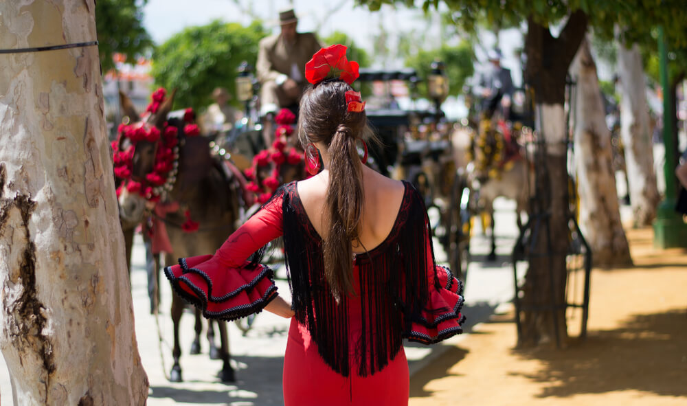 Splendid costumes and carriages at La Semana Gótica in Madrid, Spain