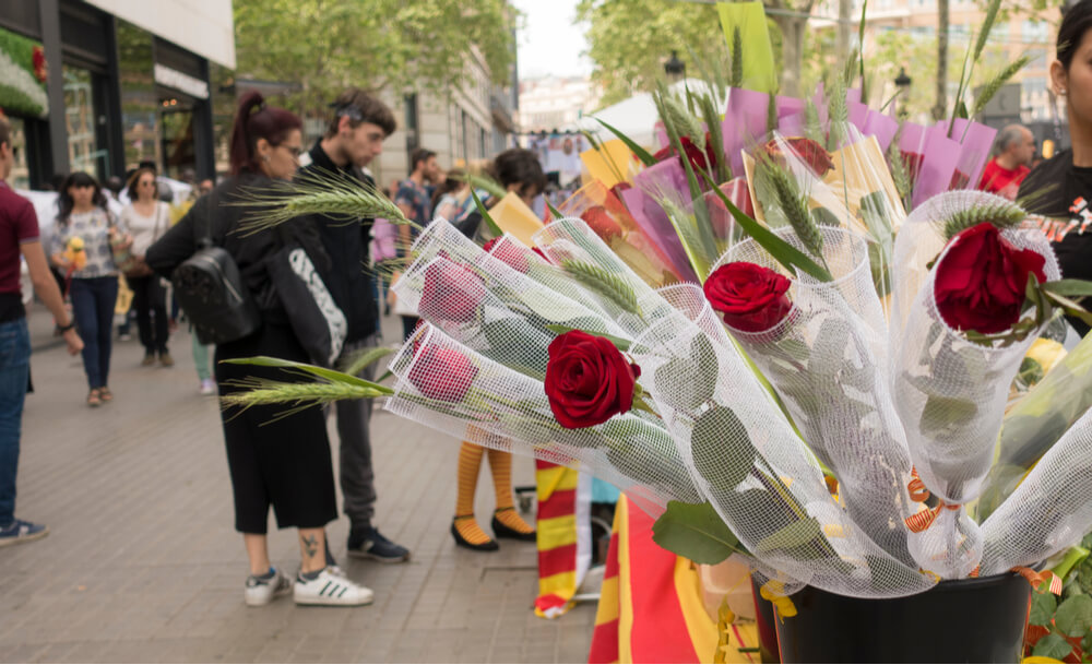 Saint George's Day (La Diada de Sant Jordi in Catalan) is traditionally celebrated in several regions of Spain