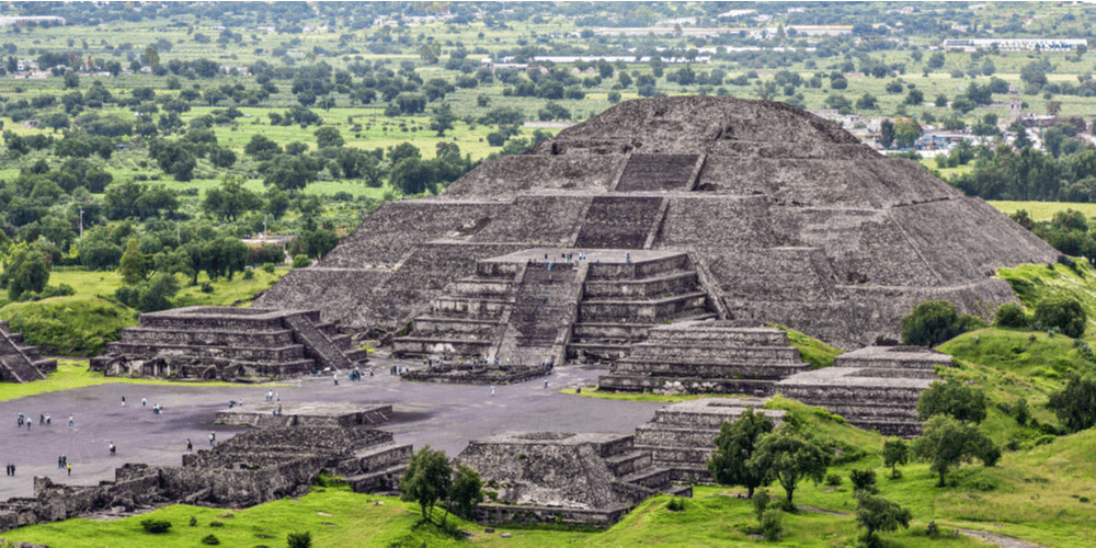 the Pyramid of the Moon is the 2nd largest in Teotihuacan