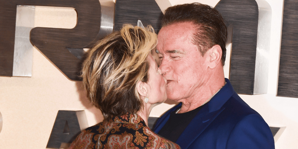 "Linda Hamilton and Arnold Schwarzenegger at the ""Terminator: Dark Fate"" photocall, London"