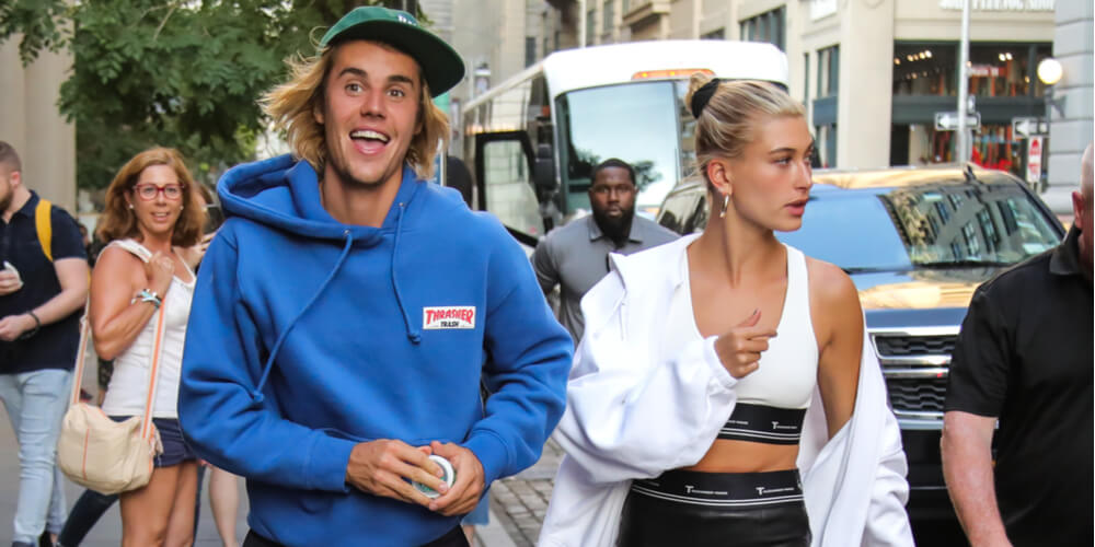 Justin Bieber and Hailey Baldwin in New York City on July 12, 2018