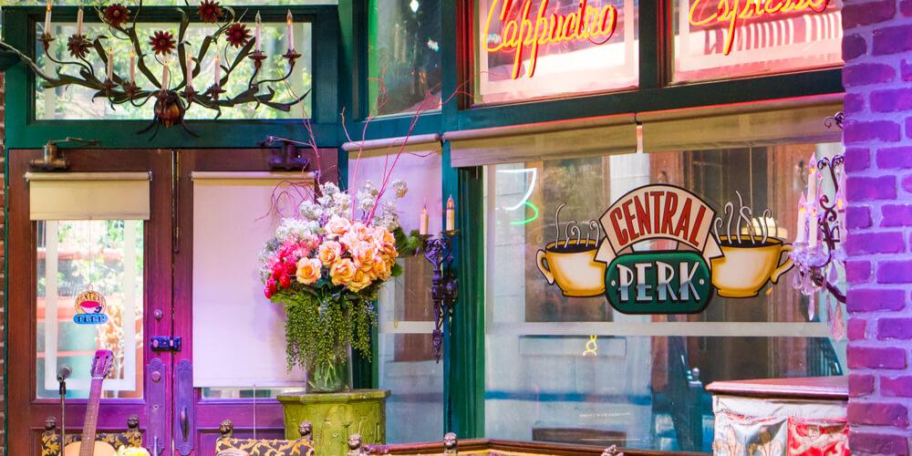 Central Perk cafe in the Warner Bros Studio Tour in Burbank