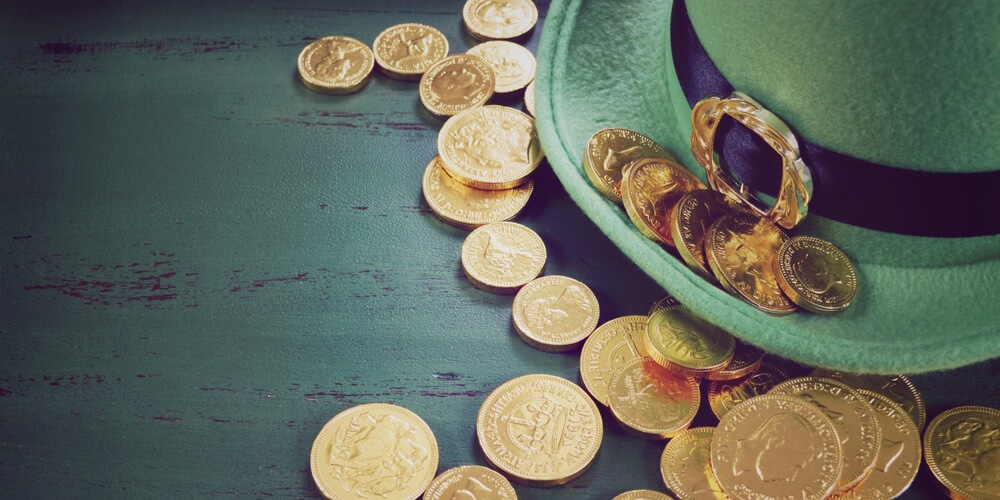 Lots of coins with a hat