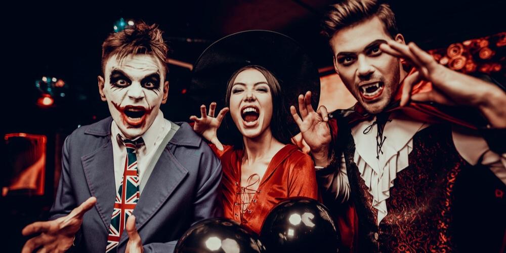 Joker, Drakula, scary girl