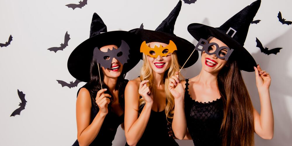 3 beautiful Halloween girls