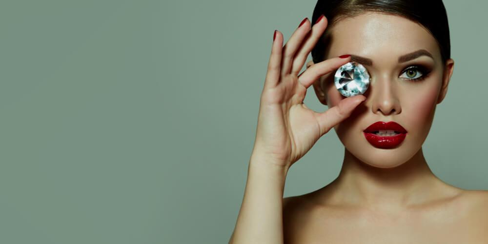 Girl with a diamond