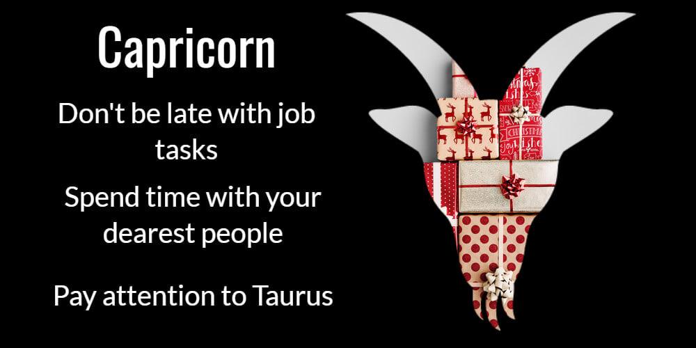 Capricorn at Christmas
