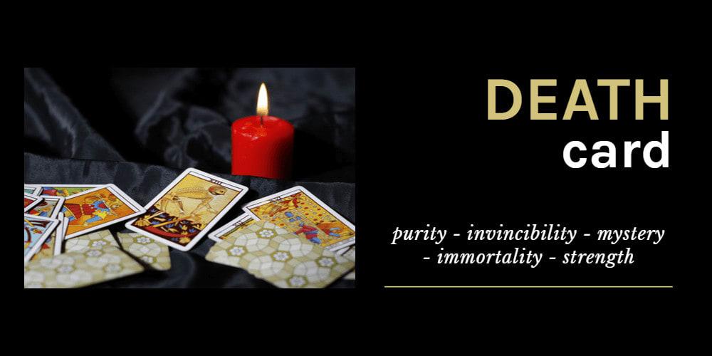a Tarot deck on black cloth