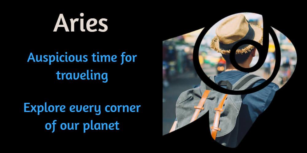 Travel horoscope for Aries