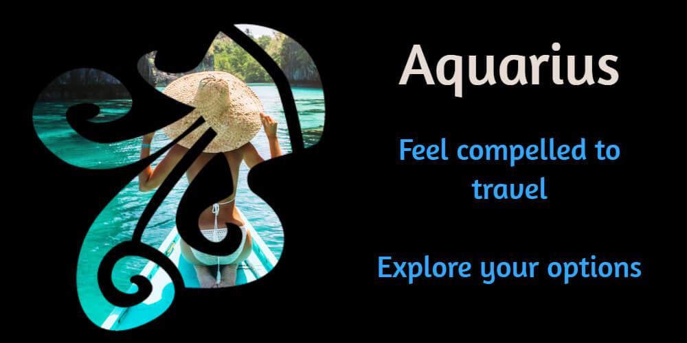 Travel horoscope for Aquarius