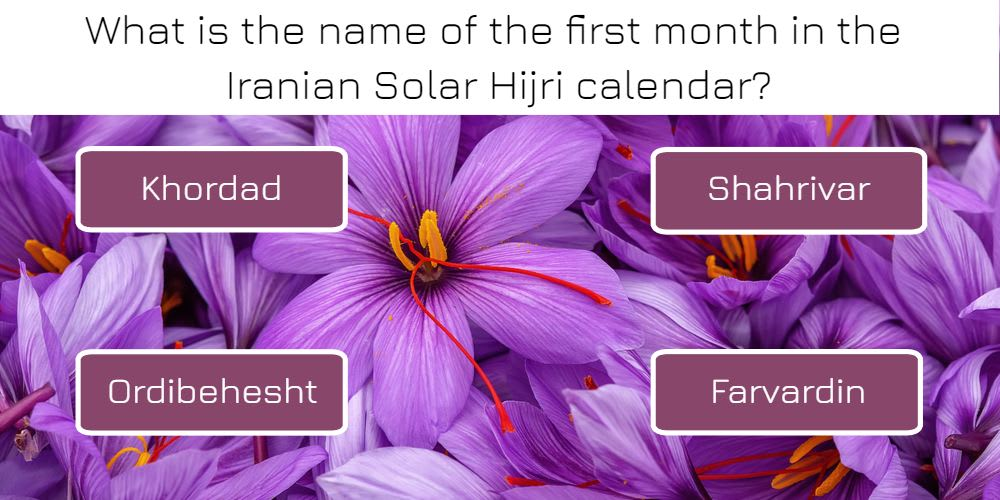 What is the name of the first month in the Iranian Solar Hijri calendar?