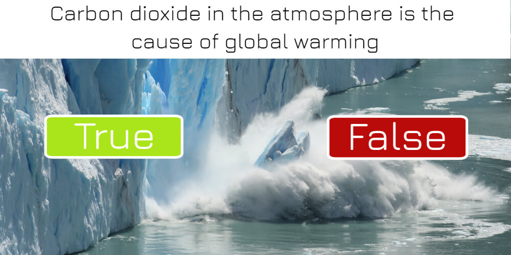 Carbon dioxide in the atmosphere is the cause of global warming: true or false? Answer now!