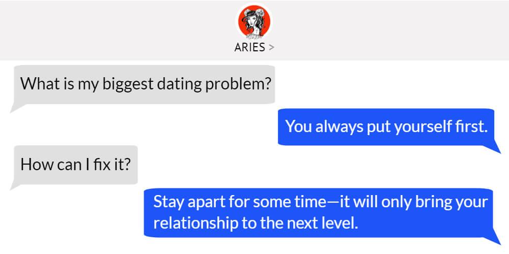 Aries worst dating problem