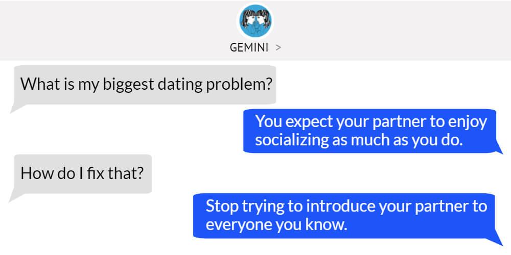 Gemini worst dating problem
