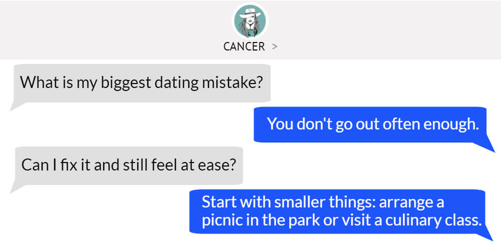 Cancer worst dating problem