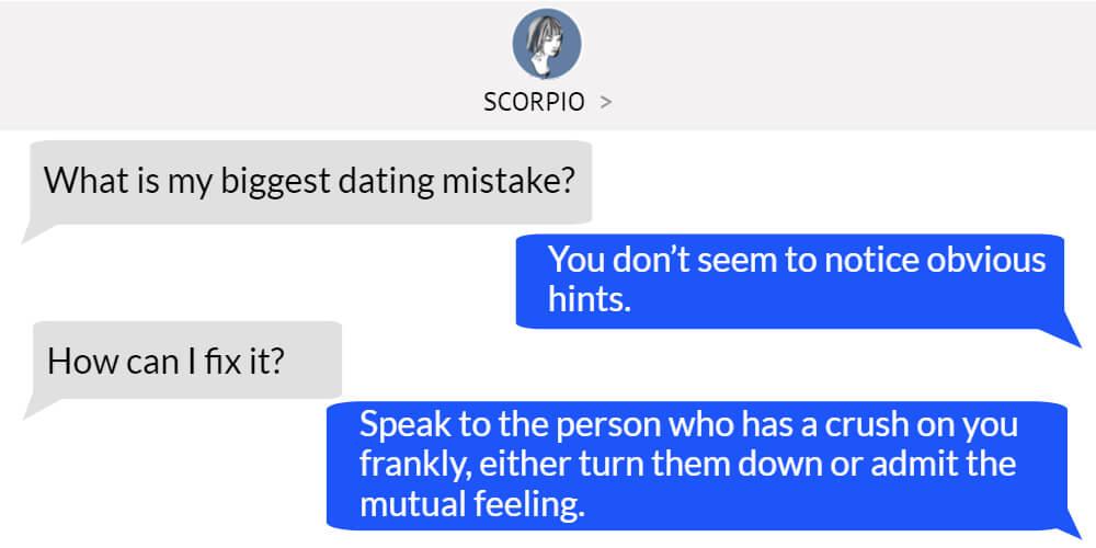 Scorpio worst dating problem