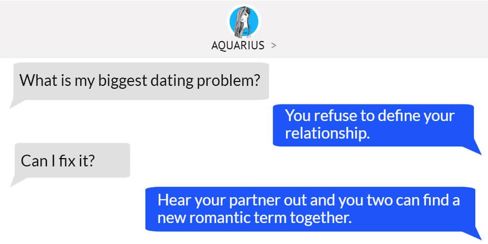 Aquarius worst dating problem