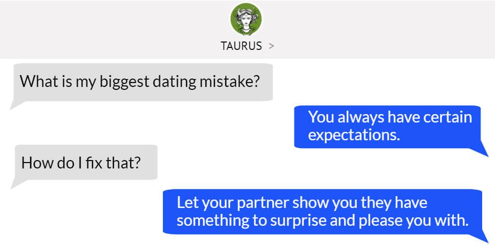 Taurus worst dating problem