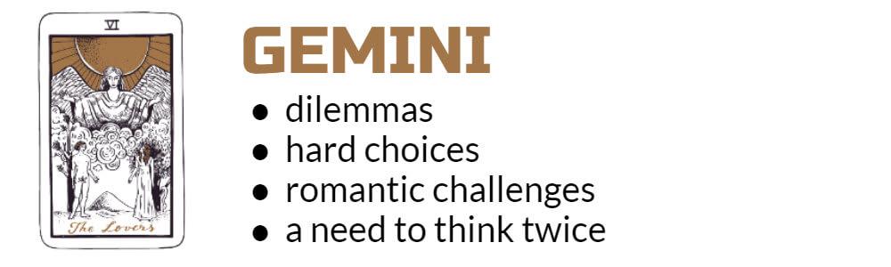 Gemini Tarot card