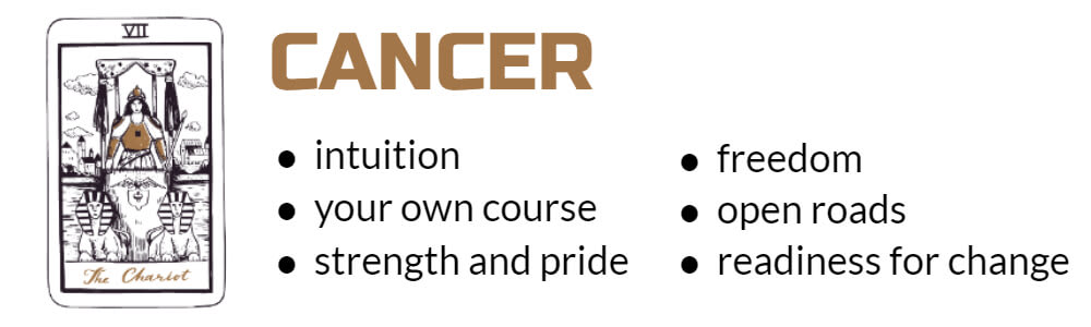 Cancer Tarot card