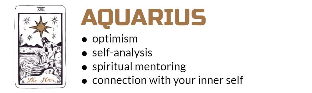Aquarius Tarot card