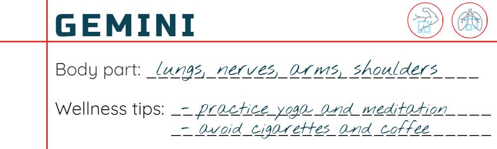 Wellness tips for Gemini
