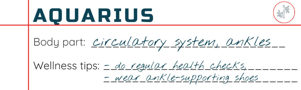 Wellness tips for Aquarius