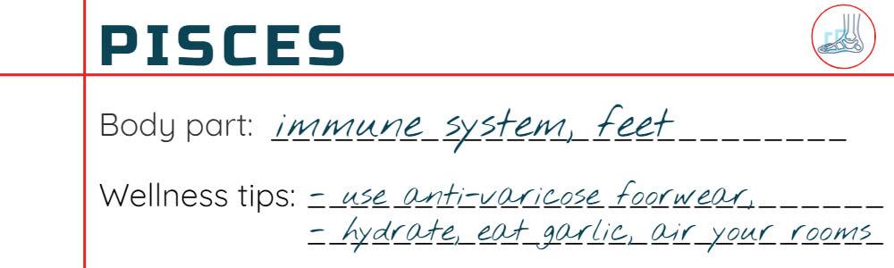 Wellness tips for Pisces
