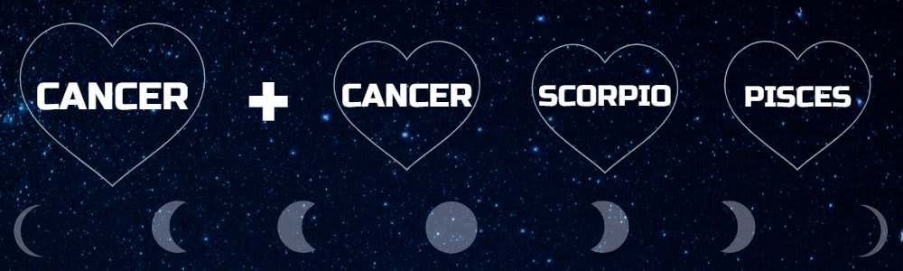 Moon sign compatibility for Cancer