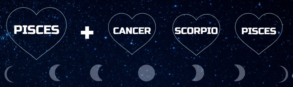 Moon sign compatibility for Pisces
