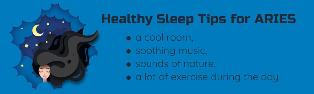 Healthy sleep tips for Aries