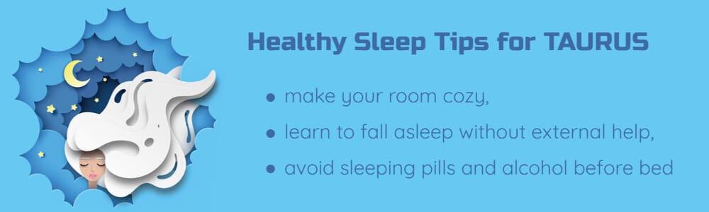 Healthy sleep tips for Taurus